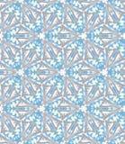 abstrakt blå blommawallpaper Arkivfoton