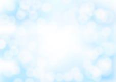 Abstrakt blå bokehbakgrund med suddiga ljusa effekter Arkivfoton