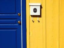 abstrakt blå dörr Royaltyfri Bild
