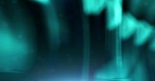 Abstrakt blå digital skinande bakgrund för rörelse för material för suddighet för texturvågunfocus som är sömlös arkivfilmer