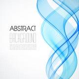 Abstrakt blå genomskinlig vågbakgrund Royaltyfria Bilder