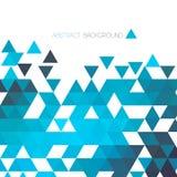 Abstrakt blå geometrisk bakgrund med triangeln Royaltyfri Fotografi