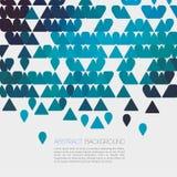 Abstrakt blå geometrisk bakgrund med triangeln vektor Royaltyfria Bilder