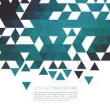 Abstrakt blå geometrisk bakgrund med triangeln vektor Arkivfoto
