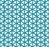 abstrakt blå geometrisk modell för triangeldecokonst Royaltyfri Fotografi