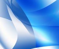 abstrakt blå illustration Royaltyfria Bilder
