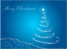abstrakt blå jultree Royaltyfri Bild