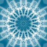 abstrakt blå juvellampa över arkivbild