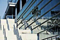 abstrakt blå kall horisont Arkivfoto