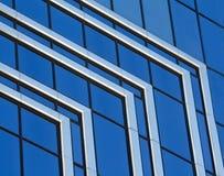 abstrakt blå krom Arkivfoto