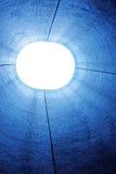 abstrakt blå lampa arkivfoto