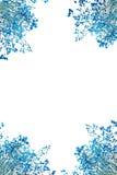 abstrakt blå leaf Royaltyfri Fotografi