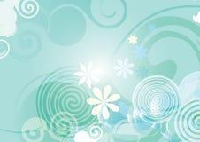 Abstrakt blå lutning för blomma för vårbakgrundsvektor royaltyfri illustrationer