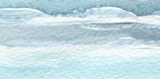 Abstrakt blå målad bakgrund för vattenfärgborste slaglängd Textur vektor illustrationer