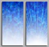 Abstrakt blå mosaikbakgrund Arkivbilder