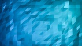 Abstrakt blå polygonal bakgrund Triangulär abstrakt textur med lutning Royaltyfri Bild