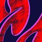Abstrakt blå röd bakgrund Arkivbilder