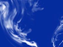 abstrakt blå rök Arkivbild