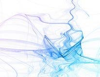 abstrakt blå rök Arkivfoton