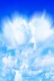 abstrakt blå sky Arkivbild