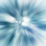 abstrakt blå sunburst Royaltyfri Fotografi