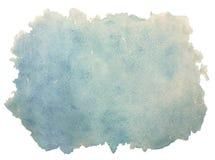 Abstrakt blå tappning, retro gammal vattenfärgbakgrund som isoleras på vit Arkivfoto