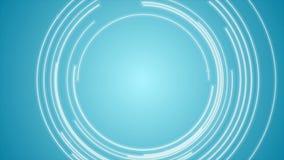 Abstrakt blå tech cirklar den videopd animeringen lager videofilmer