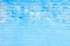 Abstrakt blå tegelstenbakgrund Royaltyfri Fotografi