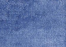 Abstrakt blå textilhandduktextur Royaltyfria Foton