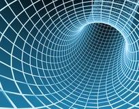 abstrakt blå tunnel för raster 3d Royaltyfri Foto