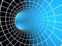abstrakt blå tunnel för raster 3d Fotografering för Bildbyråer