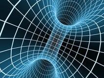 abstrakt blå tunnel för raster 3d stock illustrationer