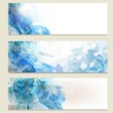 Abstrakt blå uppsättning för affärsvektorkort för design Arkivbilder