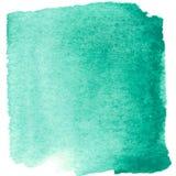 Abstrakt blå vattenfärg målad fläck med fläckar Fotografering för Bildbyråer