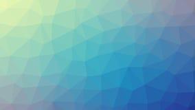 Abstrakt blå vektorlutning lowploly av bakgrund för många trianglar för bruk i design Arkivfoton