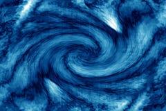 abstrakt blå virvel Royaltyfria Foton