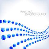 abstrakt blå wave Royaltyfri Bild