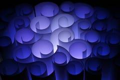 abstrakt blåa färgglada elektriska paper twirls Royaltyfria Bilder