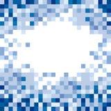 abstrakt blåa fyrkanter Royaltyfri Bild