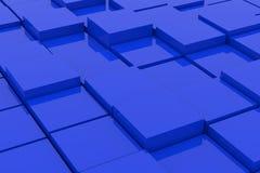 abstrakt blåa kuber Royaltyfri Foto