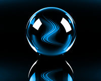 abstrakt blåa ljusa waves Fotografering för Bildbyråer