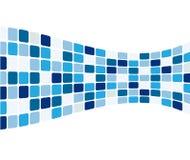 abstrakt blåa tegelplattor Royaltyfri Fotografi