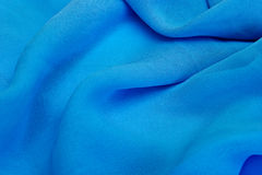 abstrakt blåa textilwaves Arkivbilder