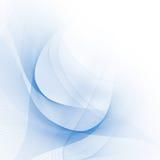 Abstrakt blålinjen royaltyfri illustrationer