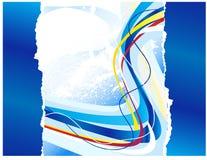 abstrakt blålinjenmall Royaltyfri Fotografi