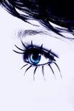 abstrakt blått öga fotografering för bildbyråer