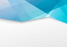 Abstrakt blått crystal gränsbroschyrhäfte Arkivbild