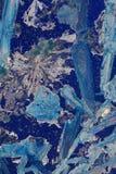 abstrakt blått crystalline royaltyfria bilder