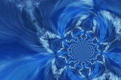 abstrakt blått djupt Arkivbild