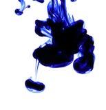 Abstrakt blått färgpulver Royaltyfria Bilder